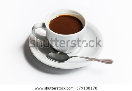 Coffee cup on white