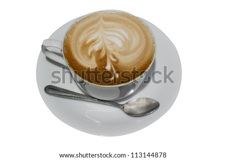 coffee cup on white background - stock photo