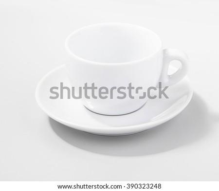 Coffee cup over grey background - stock photo