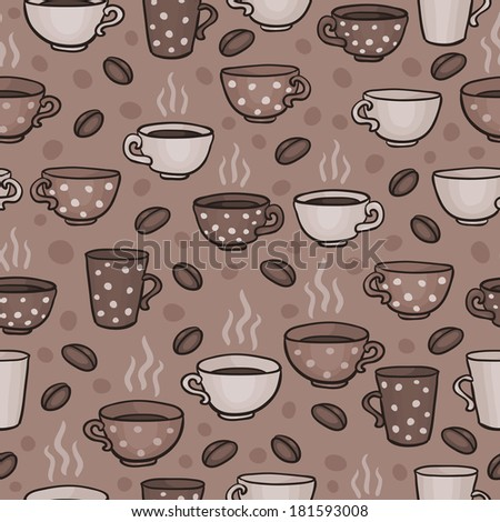 Coffee cup pattern - stock photo