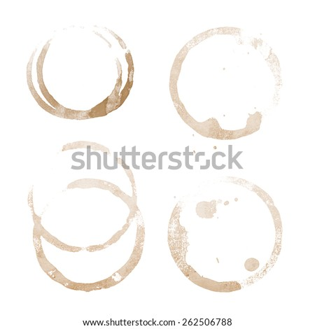 coffee cup stain on a white background