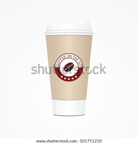 Coffee cup. Take away paper / plastic coffee cup illustration.