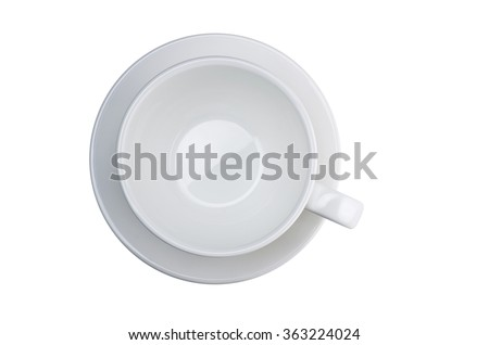 Coffee cup. top view, isolated
