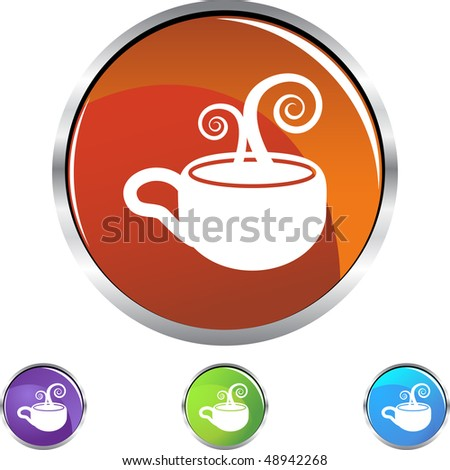 Coffee Cup web button isolated on a background.