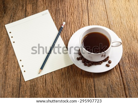 coffee cup with papernote