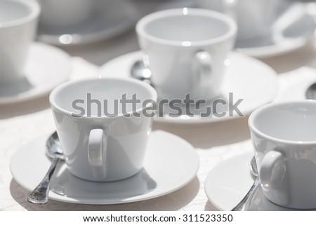 coffee cups - stock photo