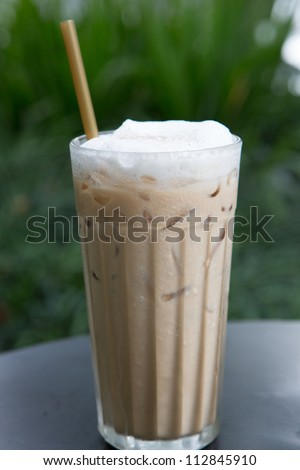 Coffee drink in a glass - stock photo