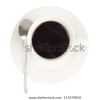 Coffee drinks isolated in the white background