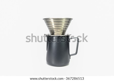 coffee dripper isolated on white background