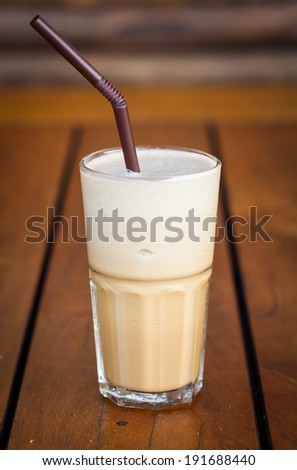 Coffee espresso in coffee shop. - stock photo