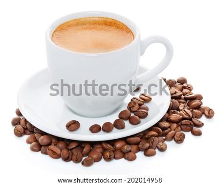 Coffee espresso isolated - stock photo