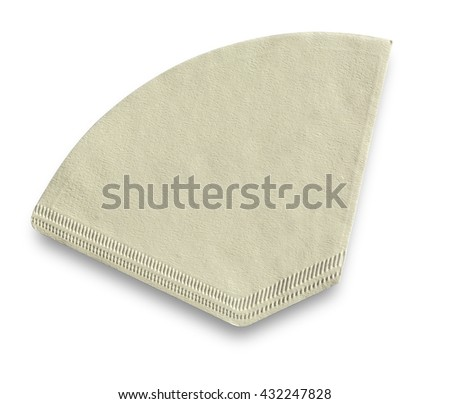 Coffee filter isolated on a white background with clipping path