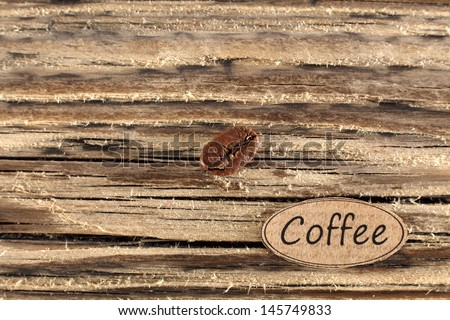 coffee grains and worn background