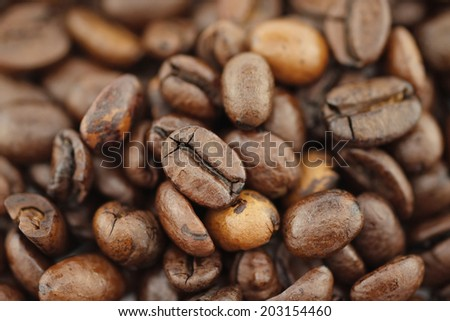 coffee, grains, toasted,