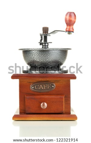 Coffee grinder isolated on white