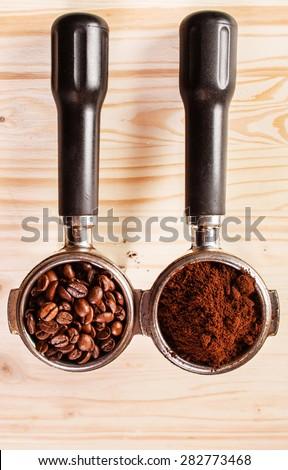 coffee handle - stock photo
