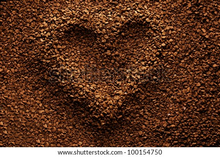 Coffee heart background
