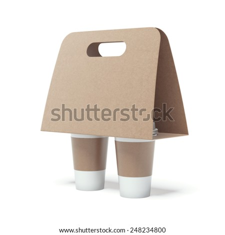 Coffee Holder Template Coffee Holder Stock Photo