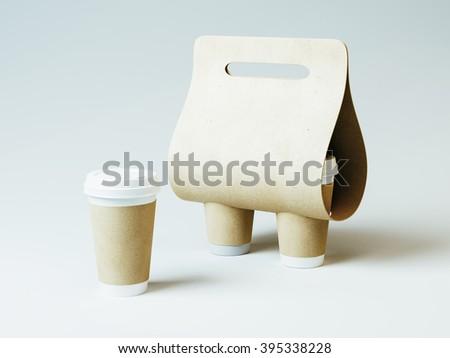 Coffee holder. 3d illustration - stock photo