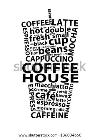Coffee House Retro Ad - stock photo
