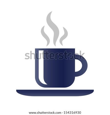 Coffee Icon.  Raster version - stock photo