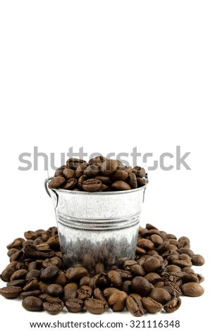 Coffee in a bucket - stock photo