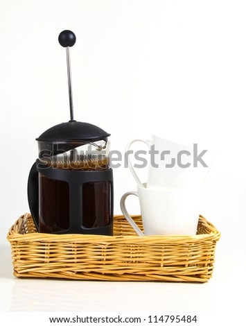 Coffee in a French Press Can