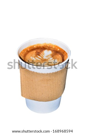Coffee in takeaway cup - stock photo