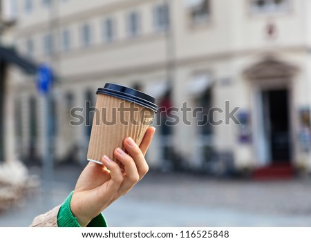 coffee in the city - stock photo