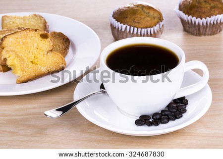 Coffee in the morning breakfast - stock photo