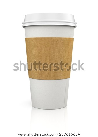 Coffee in thermo cap. Take-out coffee