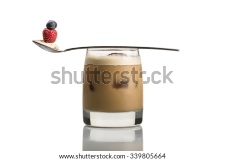 coffee infused cocktail isolated on white background - stock photo