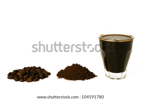 Coffee - isolated on white background - stock photo
