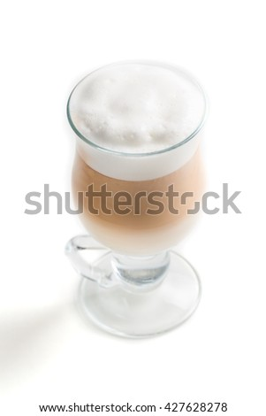 Coffee latte on a white background