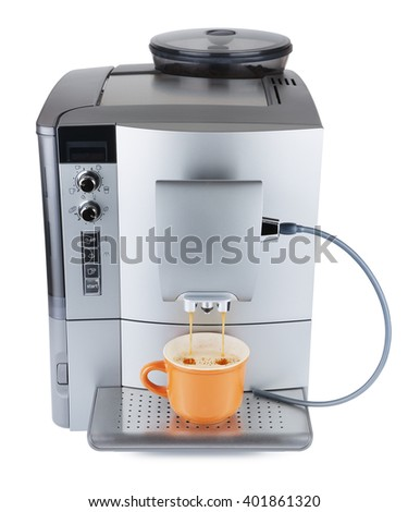 Coffee Machine Boiling - stock photo