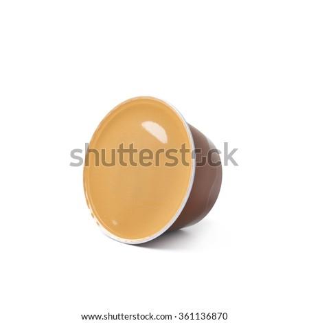 Coffee machine capsule isolated - stock photo