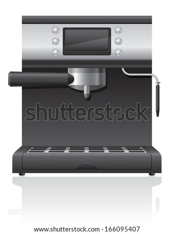 coffee maker illustration isolated on white background