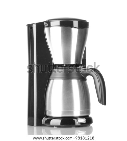 Coffee maker isolated on white