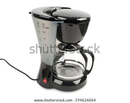 coffee maker isolated on white background