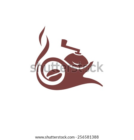 Coffee maker sign delivery of coffee Branding Identity Corporate logo design template Isolated on a white background - stock photo
