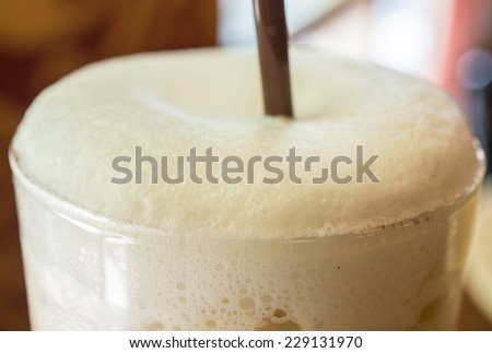 Coffee milk foam
