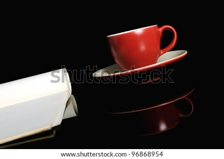 Coffee mug close up - stock photo