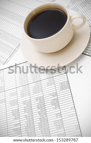 Coffee on documents.
