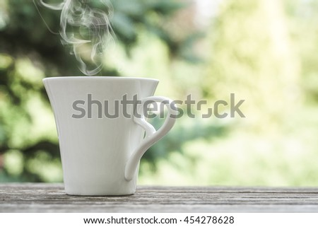 coffee on table - stock photo