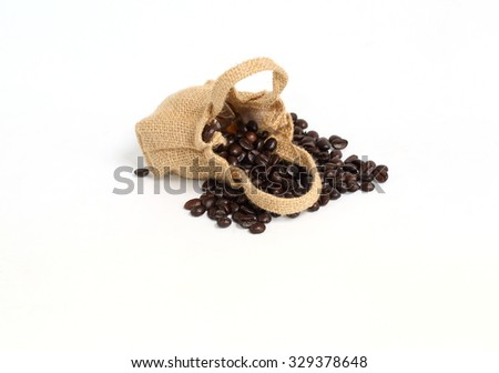 coffee on white background - stock photo