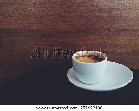 coffee  on wooden table