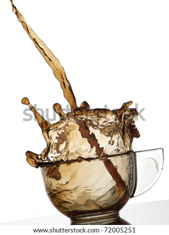 Coffee pouring into a glass - stock photo