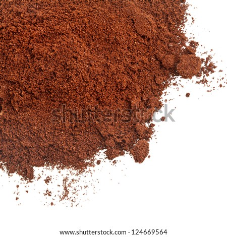 coffee powder isolated on the white background - stock photo