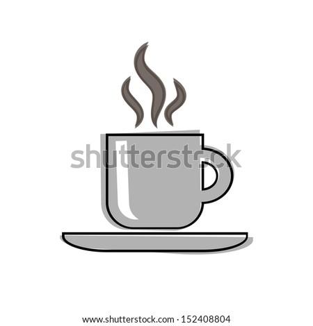 Coffee Retro Style Illustration.  Raster version. - stock photo