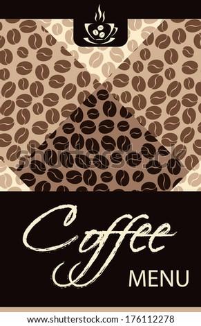 Coffee shop menu - stock photo